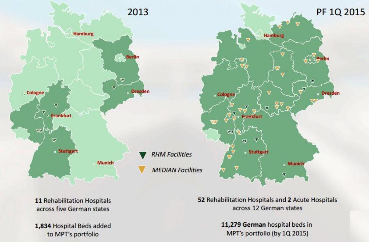 kart over tyskland Tyskland sykehus kart   Kart over Tyskland sykehus (Vest Europa  kart over tyskland
