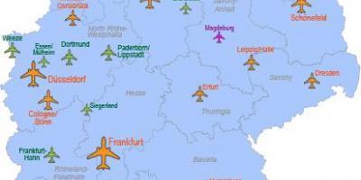 flyplasser tyskland kart Internasjonale flyplasser i Tyskland kart   Store flyplasser i  flyplasser tyskland kart
